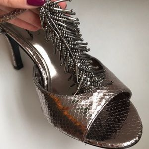 Shoes - Silver Metallic Heels